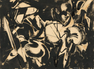 Lee Krasner - Untitled (1953), an example of embodied abstract expressionist painting